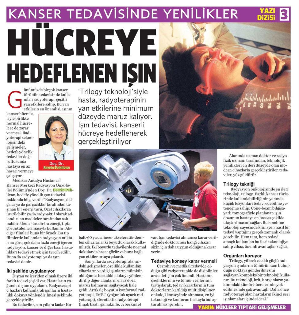 gazete1 kanserTedavisi 975x1024 - Kanser tedavisinde yenilikler