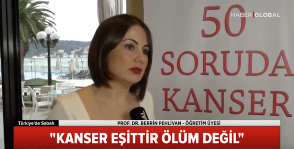 "Photo of BAU Öğr. Prof. Doktor Berrin Pehlivan Haber Global'de : ""50 Soruda Kanser"""